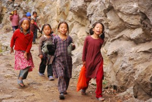 Schulkinder in Nepal